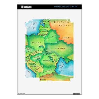 Map of Eastern Europe iPad 3 Skin