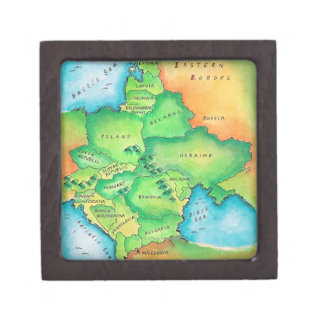 Map of Eastern Europe Jewelry Box