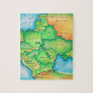 Map of Eastern Europe Jigsaw Puzzle