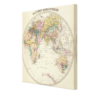 Map of Eastern Hemisphere Gallery Wrapped Canvas