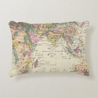 Map of Eastern Hemisphere Decorative Pillow