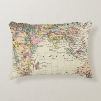 Map of Eastern Hemisphere Accent Pillow