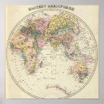 Map of Eastern Hemisphere Posters