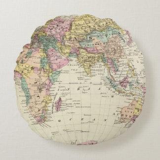 Map of Eastern Hemisphere Round Pillow