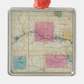 Map of Eastern Kansas Metal Ornament