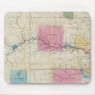 Map of Eastern Kansas Mouse Pad