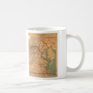 Map of Eastern Virginia (1862) Coffee Mug