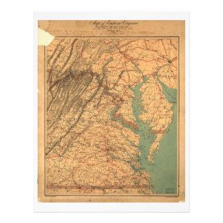 Map of Eastern Virginia (1862) Letterhead
