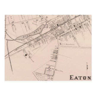 Map of Eatontown, New Jersey Postcard