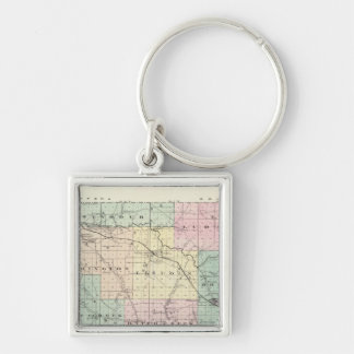 Map of Eau Claire County, State of Wisconsin Keychain