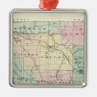 Map of Eau Claire County, State of Wisconsin Metal Ornament