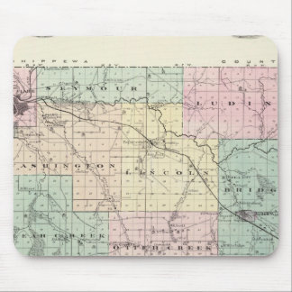 Map of Eau Claire County, State of Wisconsin Mouse Pad