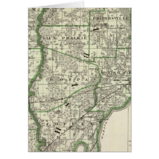 Map of Edwards & Wabash counties and Albion Greeting Cards