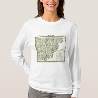 Map of Edwards & Wabash counties and Albion T-Shirt