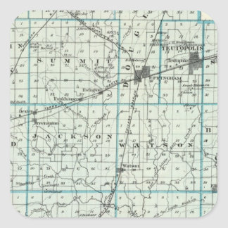 Map of Effingham County Square Sticker
