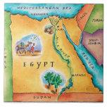 """Map of Egypt Ceramic Tile<br><div class=""""desc"""">Asset ID: wov043 / Jennifer Thermes / Map of Egypt</div>"""