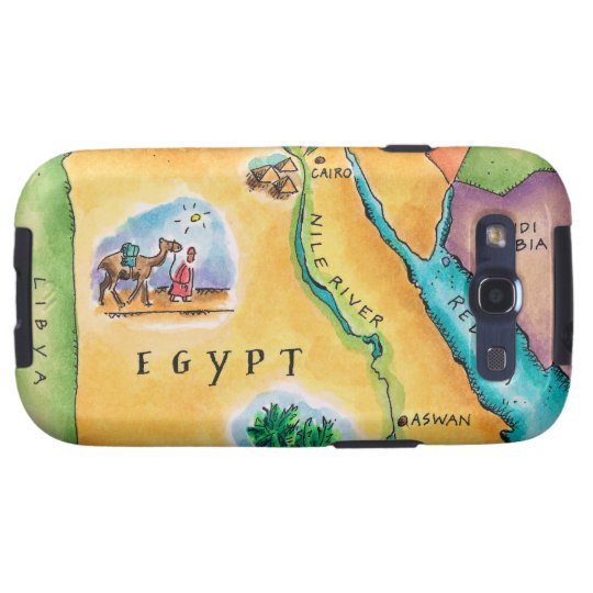 Map of Egypt Galaxy S3 Case