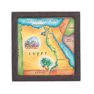 Map of Egypt Keepsake Box