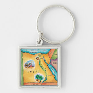 Map of Egypt Key Chain
