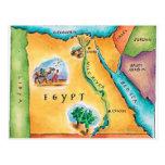 Map of Egypt Postcard
