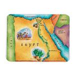 Map of Egypt Rectangular Photo Magnet
