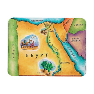 Map of Egypt Rectangular Photo Magnet
