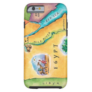 Map of Egypt Tough iPhone 6 Case