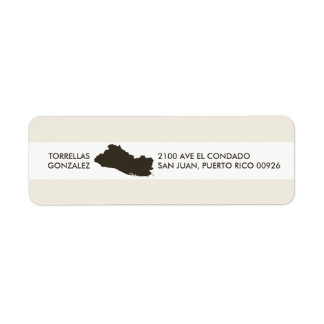 Map of El Salvador: Personalized Design Return Address Label