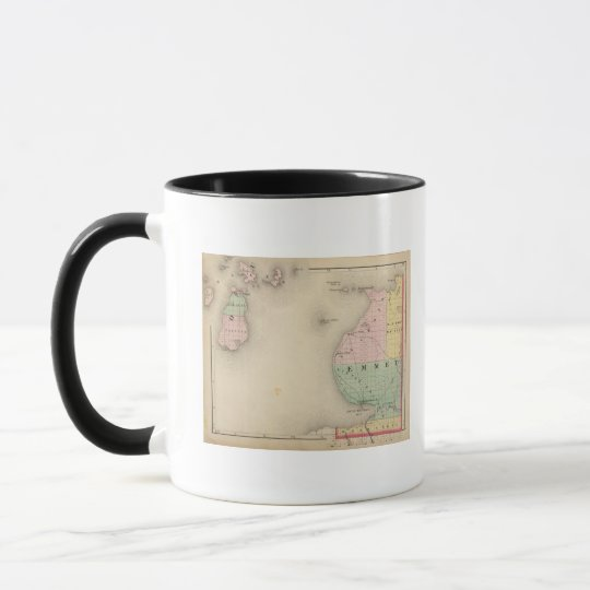 Map of Emmet County, Michigan Mug