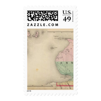 Map of Emmet County, Michigan Postage Stamp