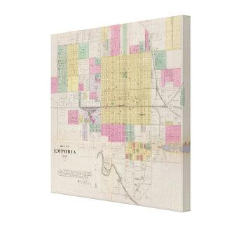 Map of Emporia, Kansas Canvas Print