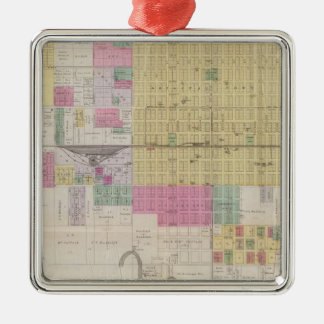 Map of Emporia, Kansas Metal Ornament