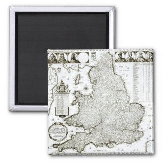 Map of England and Wales 1644 Refrigerator Magnet