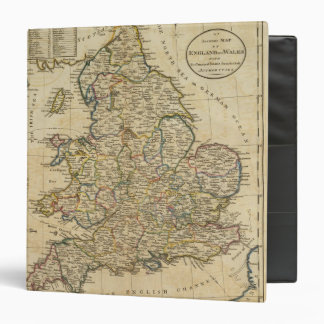 Map of England and Wales 3 Ring Binder