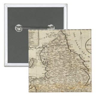 Map of England and Wales Pinback Button