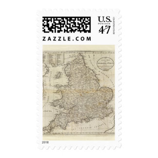 Map of England and Wales Postage