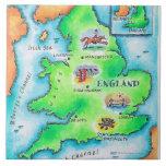 Map of England Ceramic Tile