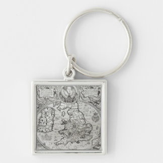 Map of England during the reign of Keychain