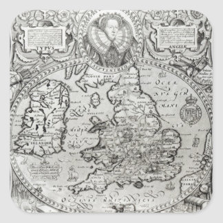 Map of England during the reign of Square Sticker