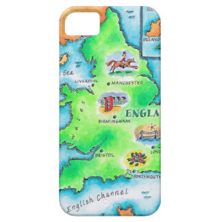 Map of England iPhone SE/5/5s Case