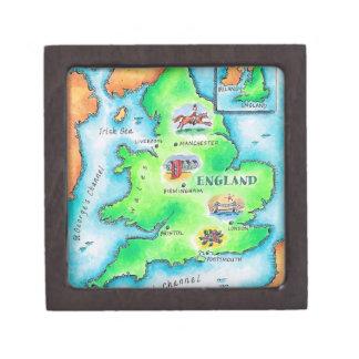 Map of England Keepsake Box