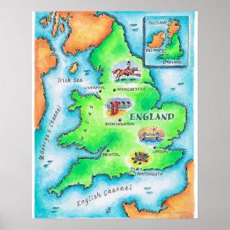 Map of England Print