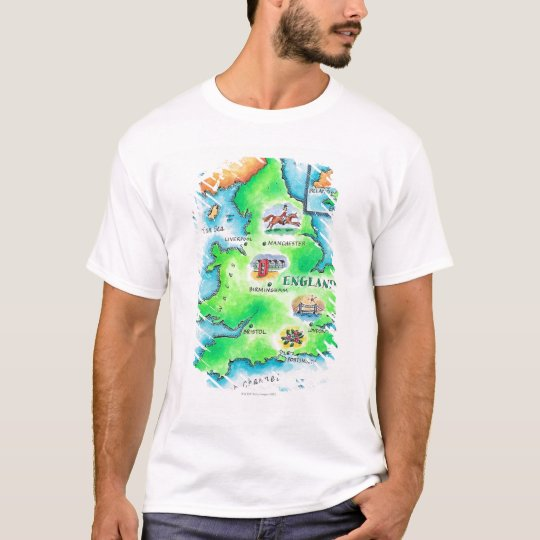 Map of England T-Shirt
