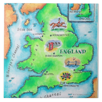 Map of England Tile