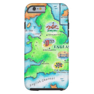 Map of England Tough iPhone 6 Case