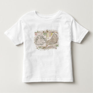 Map of English Colonies in the Caribbean, pub. by Toddler T-shirt