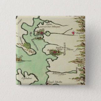 Map of Epirus for 'Andromache' by Jean Racine, fro Button