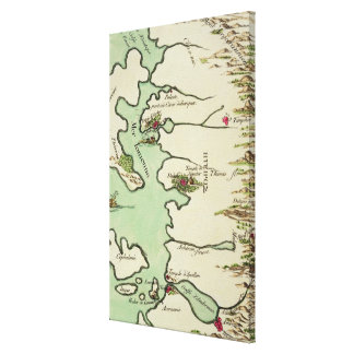 Map of Epirus for 'Andromache' by Jean Racine, fro Canvas Print