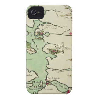 Map of Epirus for 'Andromache' by Jean Racine, fro iPhone 4 Cover
