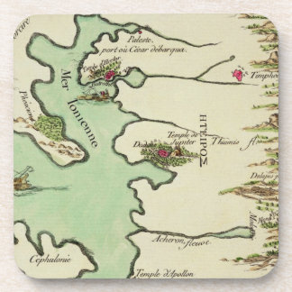Map of Epirus for 'Andromache' by Jean Racine, fro Coaster